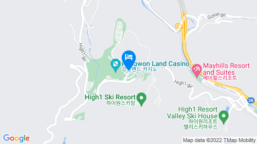 High1 Grand Hotel Main Tower (Kangwonland Hotel) Map