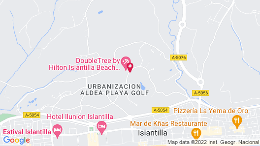 DoubleTree by Hilton Islantilla Beach Golf Resort Map