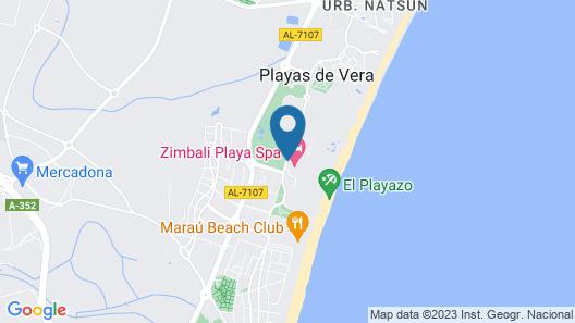 Zimbali Playa Spa Hotel Map