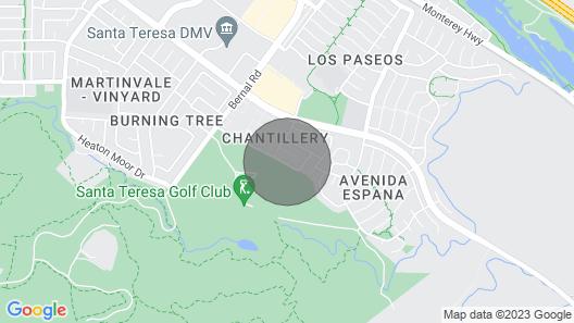 Golf-course-front Home w/ Garden Terrace - Steps to Santa Teresa Park, Dogs OK Map