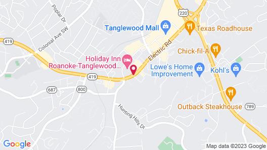 Sleep Inn Tanglewood Map