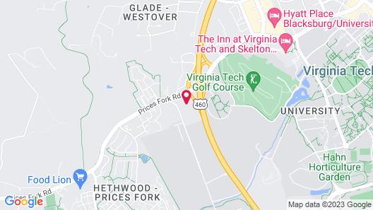 Hilton Garden Inn Blacksburg University Map