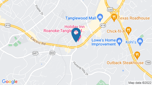 Holiday Inn Roanoke-Tanglewood-Rt 419&i581, an IHG Hotel Map