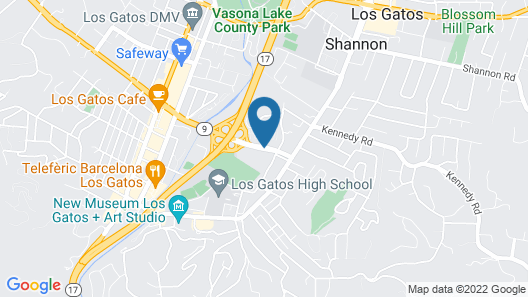 Best Western The Inn Of Los Gatos Map