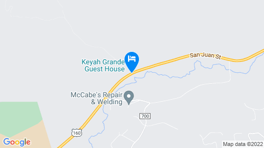 The Guest House at Keyah Grande Map