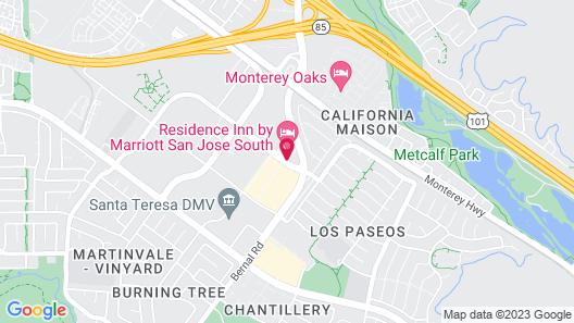 Residence Inn by Marriott San Jose South Map