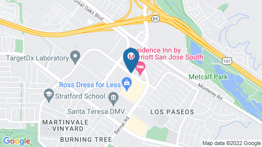 Extended Stay America San Jose - Edenvale - South Map