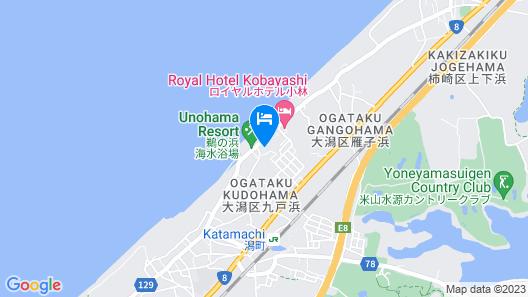 Unohama hot Springs Mikaku Map