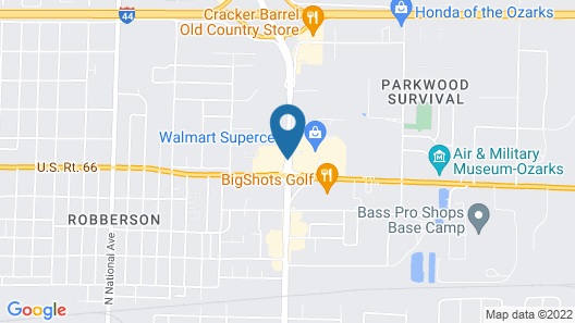 DoubleTree by Hilton Springfield Map