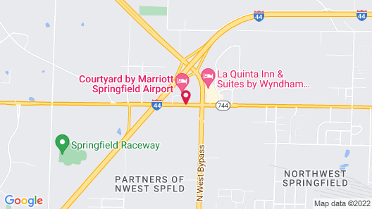 Courtyard by Marriott Springfield Airport Map