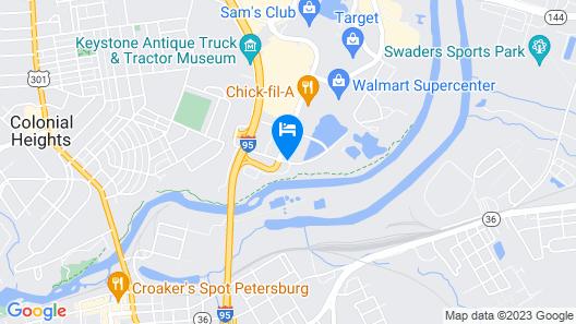 Hampton Inn Petersburg-Southpark Mall Map