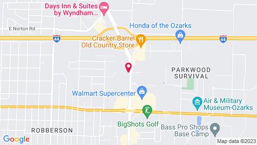 Motel 6 Springfield, MO - North Map
