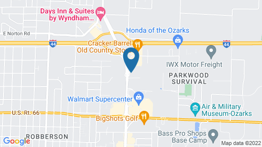 Holiday Inn Hotel & Suites Springfield - I-44, an IHG Hotel Map