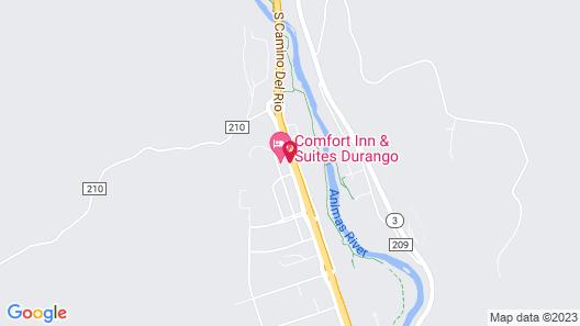 Comfort Inn & Suites Durango Map