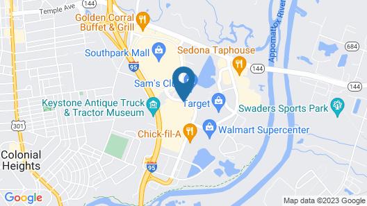 Hilton Garden Inn Richmond South/Southpark Map