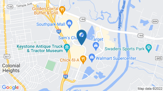 Hilton Garden Inn Richmond South/Southpark Map