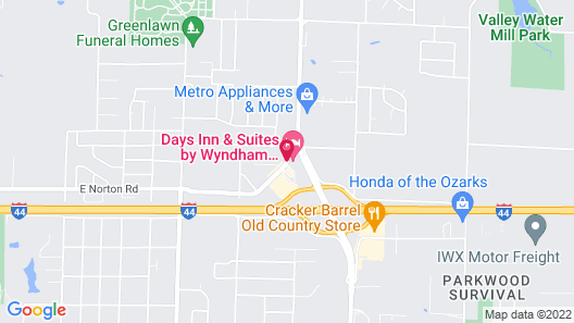 Days Inn & Suites by Wyndham Springfield on I-44 Map