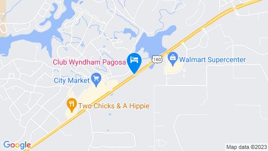 Pagosa Lodge Map