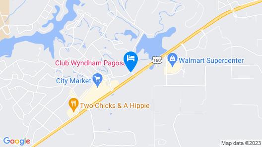 Club Wyndham Pagosa Map