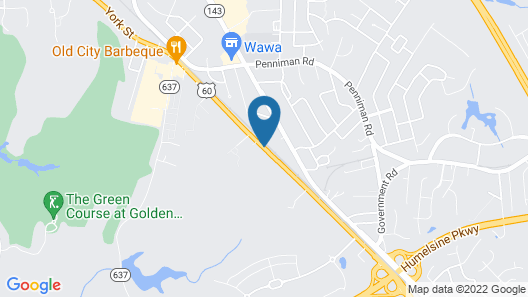Country Inn & Suites by Radisson, Williamsburg East (Busch Gardens), VA Map