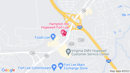 Candlewood Suites Hopewell Map