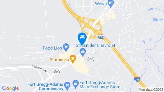 Hampton Inn Hopewell Fort Lee Map