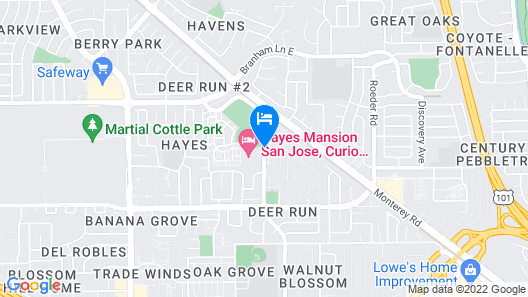 Hayes Mansion, San Jose - Curio Collection by Hilton Map