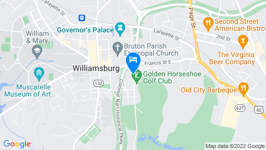 Williamsburg Lodge, Autograph Collection Map