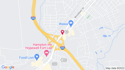 Quality Inn At Fort Lee Map