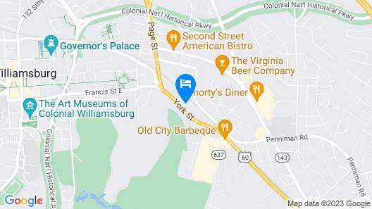 Best Western Williamsburg Historic District Map