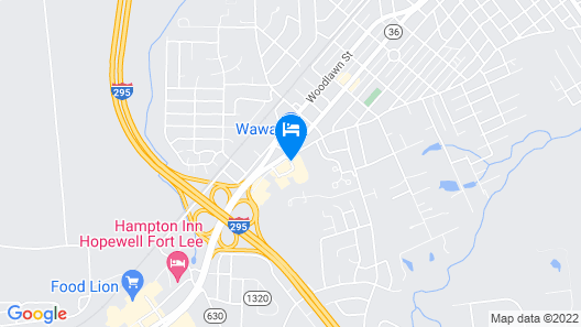 Econo Lodge near Fort Lee at I-295 Map