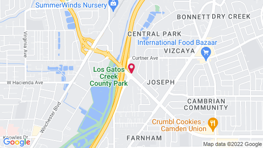 Motel 6 Campbell, CA - San Jose Map