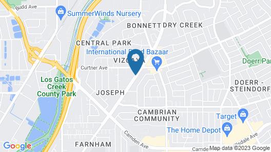 Residence Inn San Jose Campbell Map