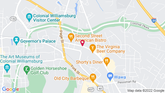 Super 8 by Wyndham Williamsburg/Historic Area Map