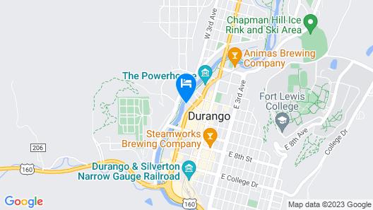 Holiday Inn Express Durango Downtown-Animas River Map