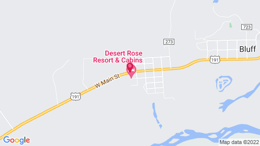 Desert Rose Resort & Cabins Map
