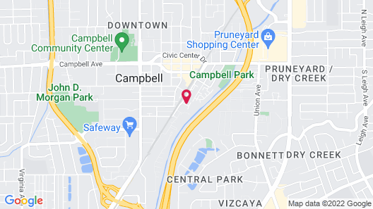Global Luxury Suites in Campbell Map