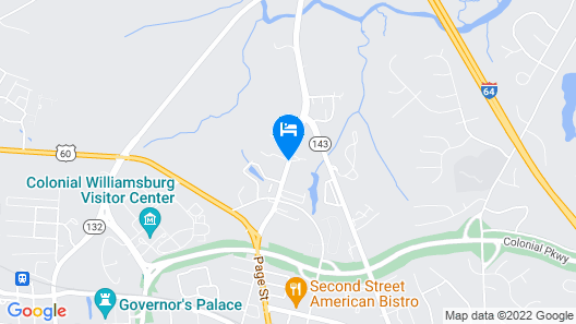 Hampton Inn & Suites Williamsburg Historic District Map