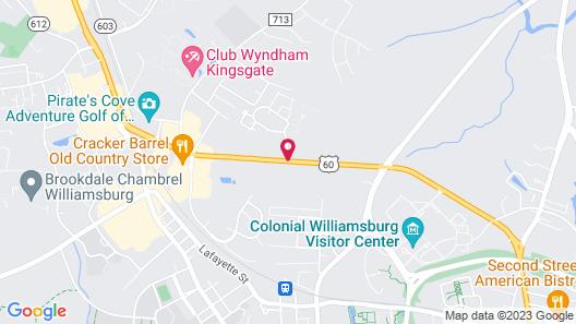 Hampton Inn & Suites Williamsburg-Central Map