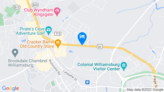 Homewood Suites by Hilton Williamsburg Map