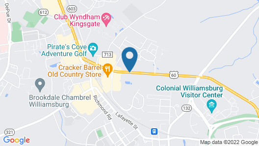 Comfort Inn Williamsburg Gateway Map