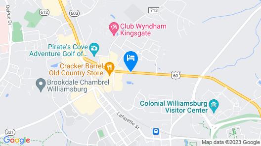 Country Inn & Suites by Radisson, Williamsburg Historic Area, VA Map