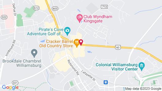 Comfort Suites Williamsburg Historic Area Map