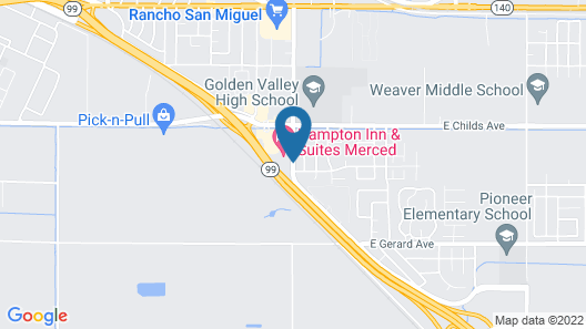 Holiday Inn Express Hotel & Suites Merced, an IHG Hotel Map