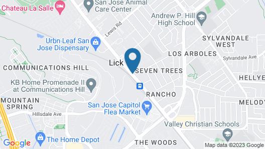Clarion Inn Silicon Valley Map