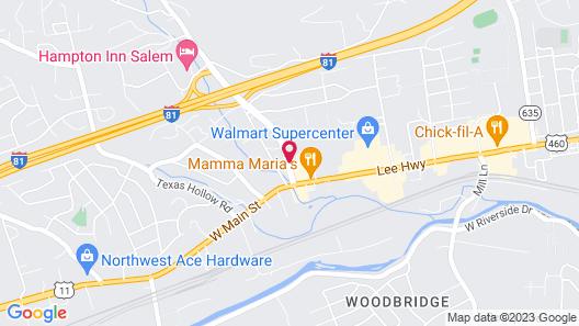 Comfort Suites Salem-Roanoke I-81 Map