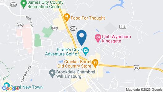 Embassy Suites Williamsburg Map