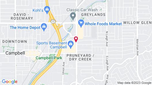 Doubletree by Hilton Campbell - Pruneyard Plaza Map