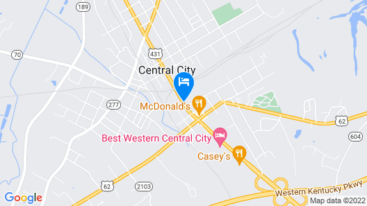Super 8 by Wyndham Central City Map