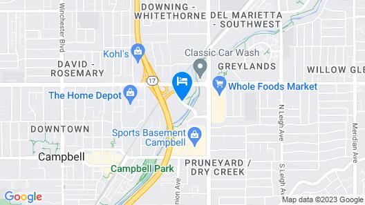 Courtyard by Marriott San Jose Campbell Map